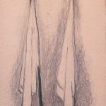 1998 - Apátridas. Dibujos, 39 x 30 cm