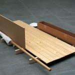 1999 - Los enseres de la duda. 47 x 110 x 200 cm